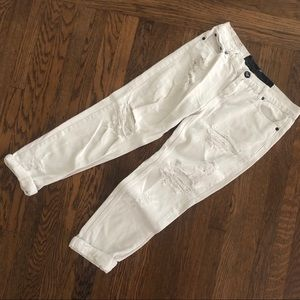 One Teaspoon Distressed White Jeans
